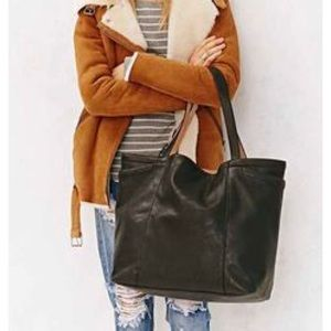 Urban Outfitters Faux Leather Black Tote
